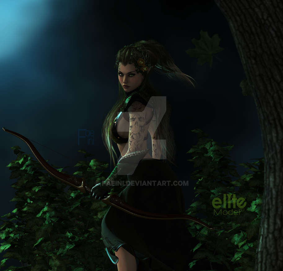Forest elf by Faeini