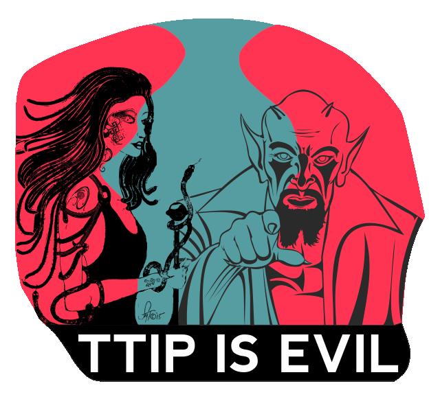 TTIP IS EVIL - Shirt Design by Sarkytob