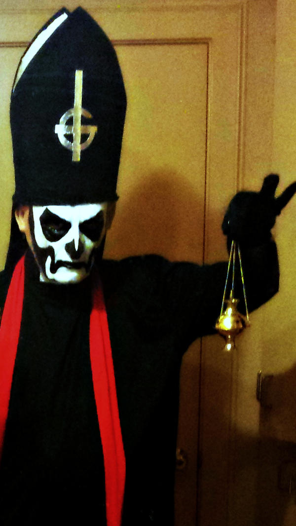Papa Emeritus I costume progress by DrQArt