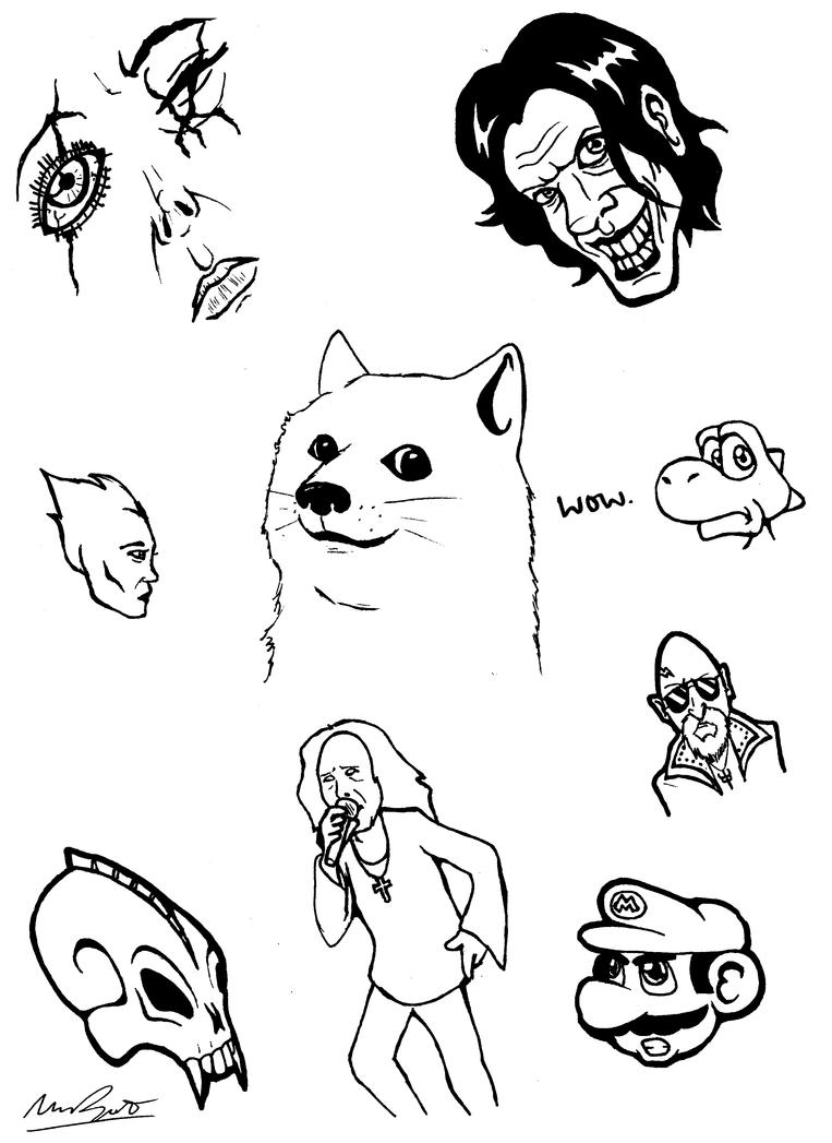 Sketch Dump 1 by DrQArt