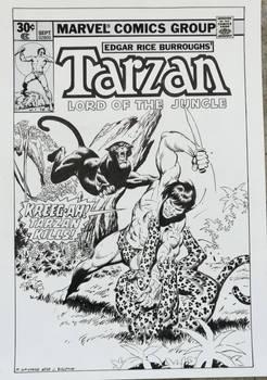 Recreation Tarzan #4 cover after John Buscema