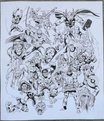 Recreation Marvel Universe Poster after J. Buscema