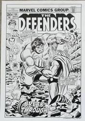 Recreation Defenders #10 cover after John Romita
