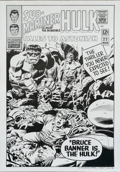 Recreation T.T.A. #77 cover after Kirby/Romita