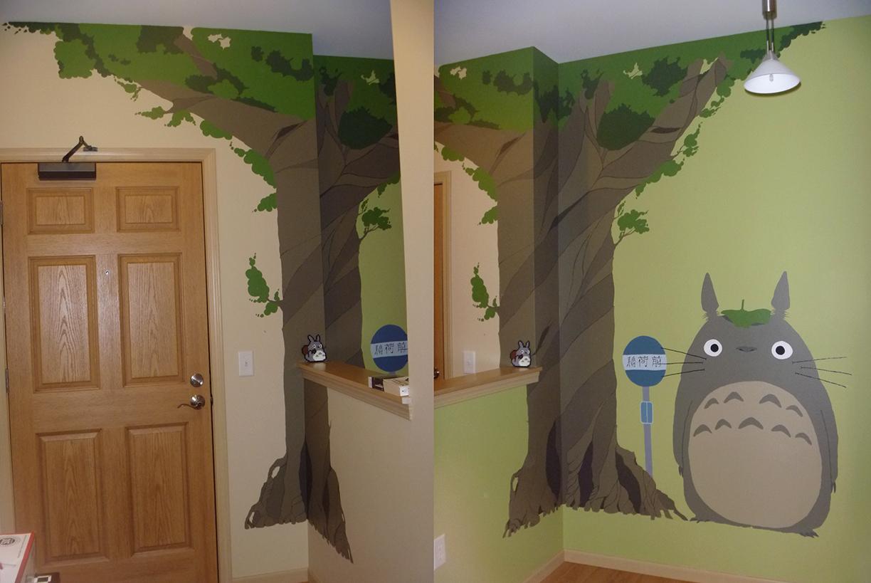 My neighbor totoro mural by shpilkes on deviantart for My room wallpaper
