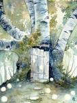 Birch Door to Annwn
