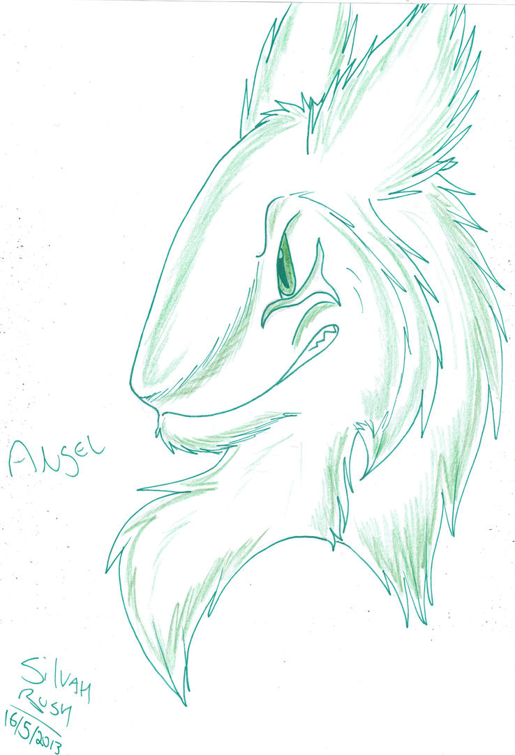 Colored Lineart: Angel by Silvah-Rush