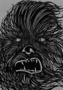 Star Wars- Chewbacca BW Concept