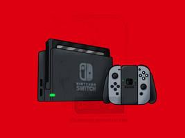 Nintendo Switch Fanart by AshiroKei