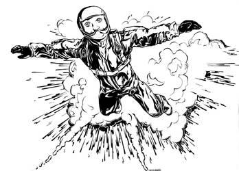 Skydiving Teschke - Self Representative Portrait by Teschke