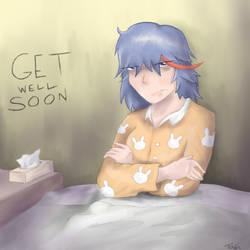 Get well soon Ryuko by Teschke