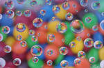M+Ms and Water Drops