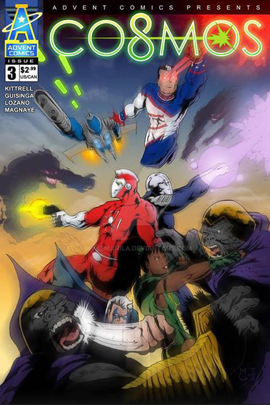 COSMOS #3 Comicbook cover by Mykemanila