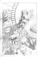 Groot and Rocker Raccoon by Mykemanila