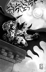 BATMAN_AZRAEL Digital inked
