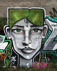 Graffiti - Face by DdBPhoto