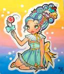 Rainbow Molly by kittyangelprincess