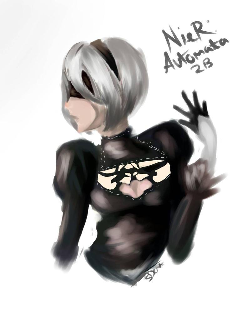 NieR : automata, 2B by ninjaswift2004