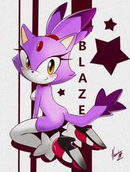 Blaze the cat by nancher