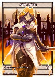 Token card +Soldier+ by nancher
