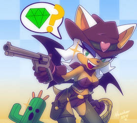 Rouge the bat  and Cactuar +cowgirl+ by nancher