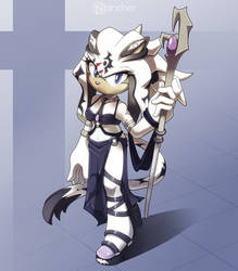 Indigo the White Tigress by nancher