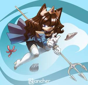 Karina the ocean princess [Commission: Full color]