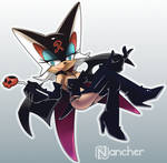 Rouge cosplaying Doronjo