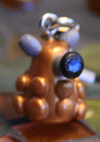 Dalek- Cellphone Charm by Skyelark