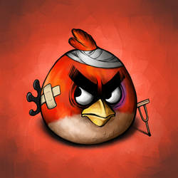 Red Angry Bird by Scooterek