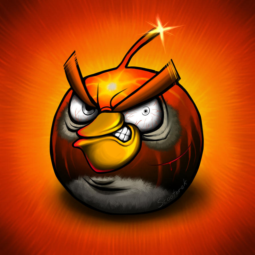 Black Angry Bird by Scooterek on DeviantArt