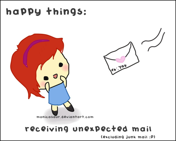 happy things: mail by monicasaur on DeviantArt
