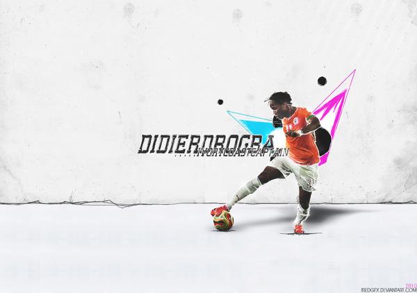 Didier Drogba wall by SoccerART-ru