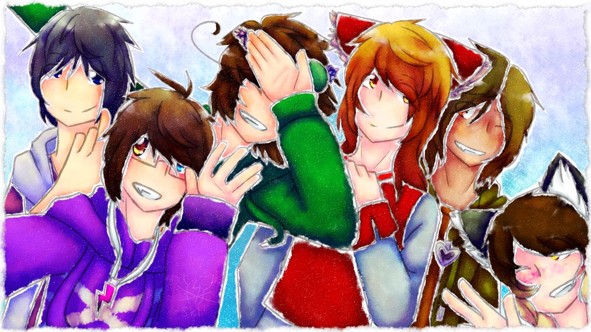 Selfie with da squad **GIFT** by StellaKitsuna