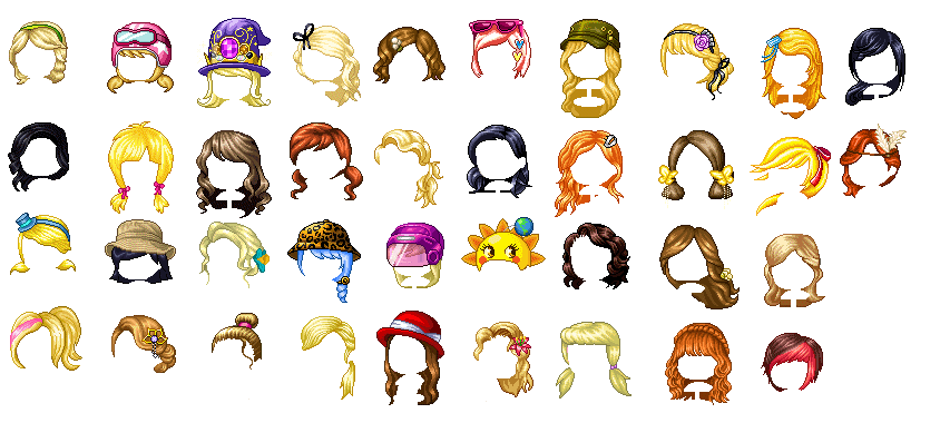 Fantage Hair Pack 1 Free To Use By Bunniespixels On
