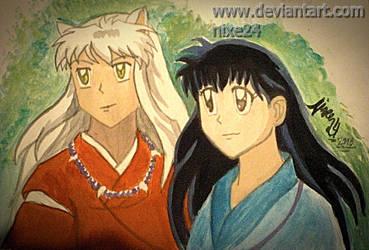 Inuyasha and Kagome by nixe24