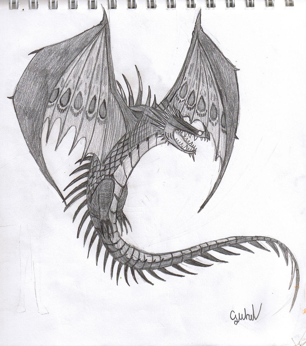 How To Train Your Dragon Skrill Drawing