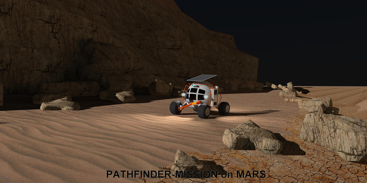 Pathfinder Mission on Mars by davidfly