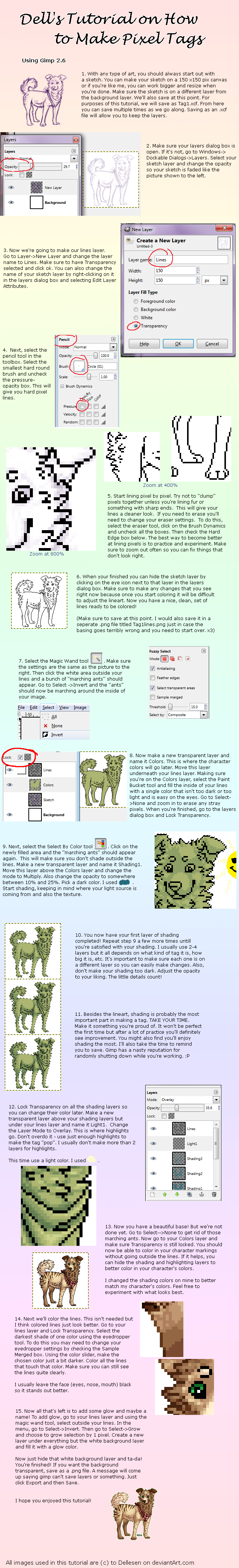 Gimp 2.6 Pixel Tag Tutorial by Dellesen