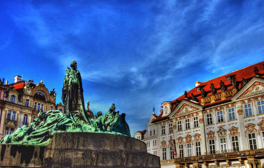 Jan Hus Statue01 by abelamario