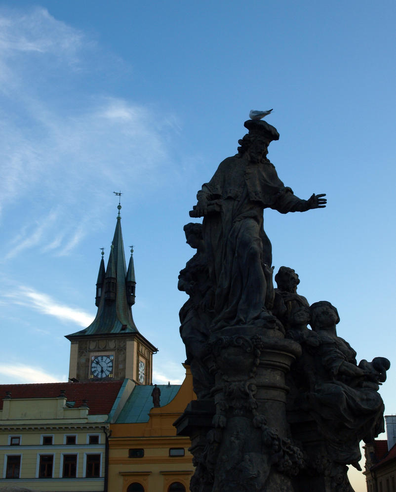 Statues along Charles Bridge01 by abelamario