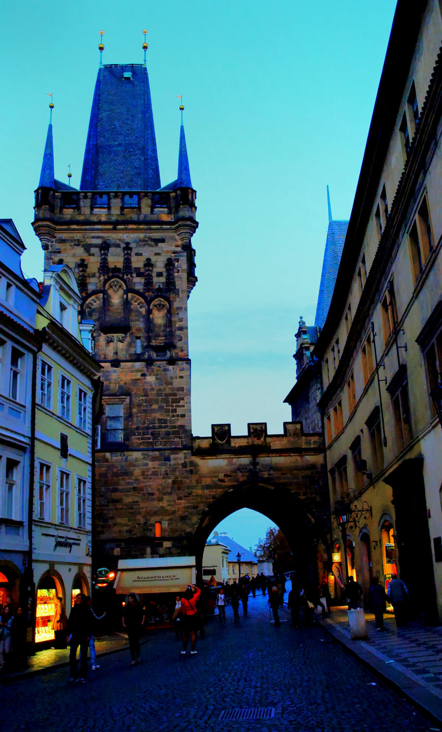 Exit Tower at Charles Bridge01 by abelamario