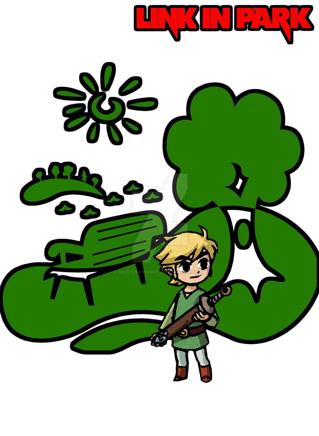 Link In Park Zelda T Shirt Design