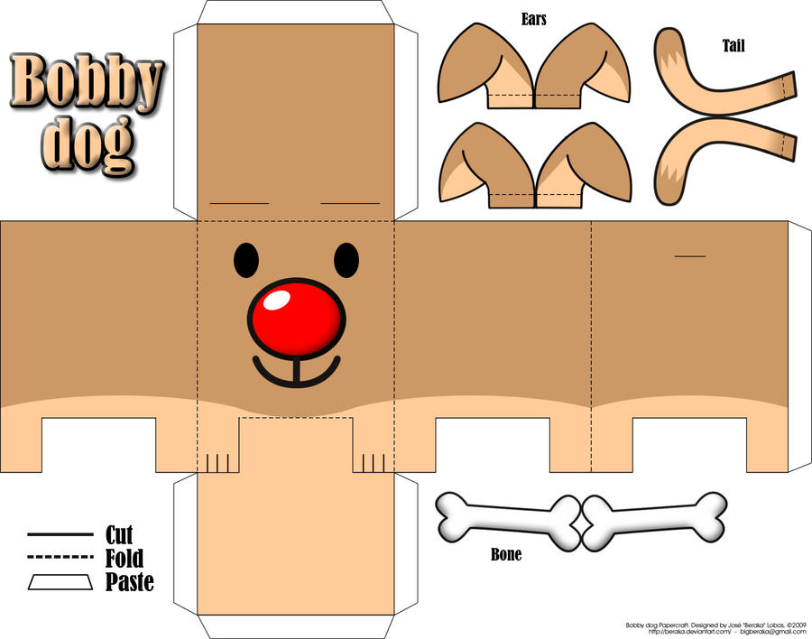 Bobby Dog Papercraft by beraka on DeviantArt