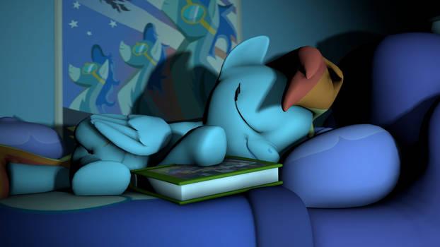 Rainbow Dash is sleeping [SFM]