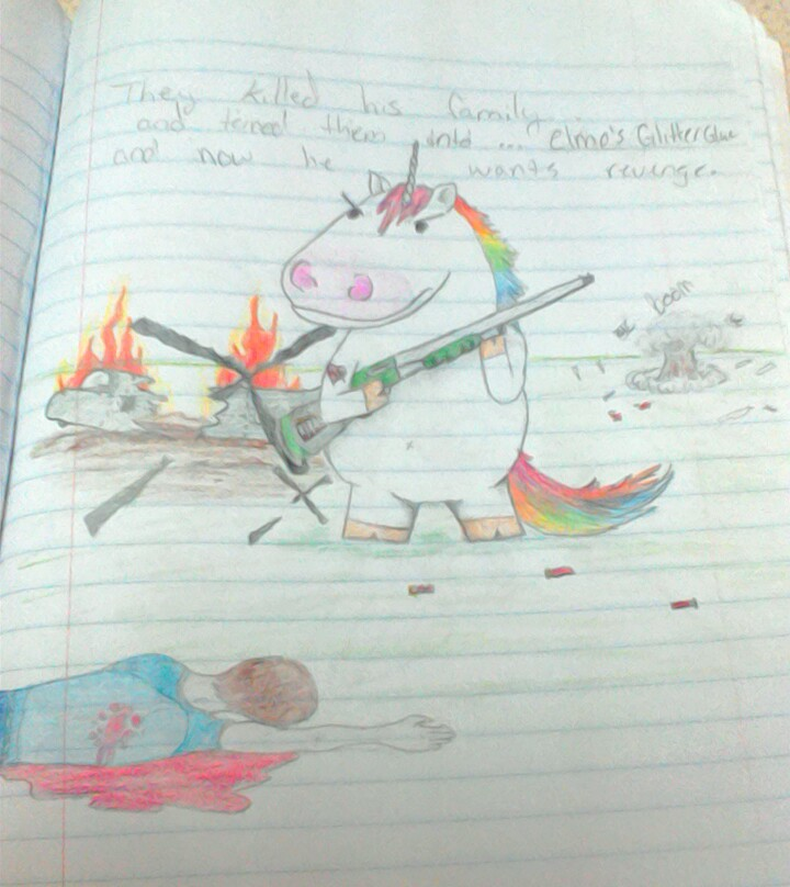 Bored in school again... by ghostworms