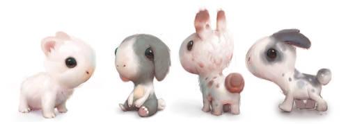group o' bunnies by Murph3