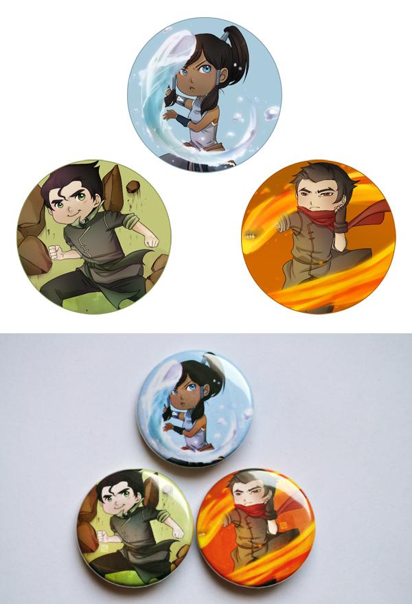 Legend of Korra (button set) by phobialia
