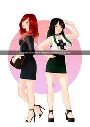 (C) Sayuri and Akari