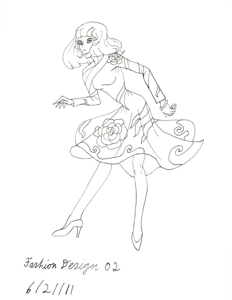 Line Art Fashion : Fashion design lineart by lisa on deviantart